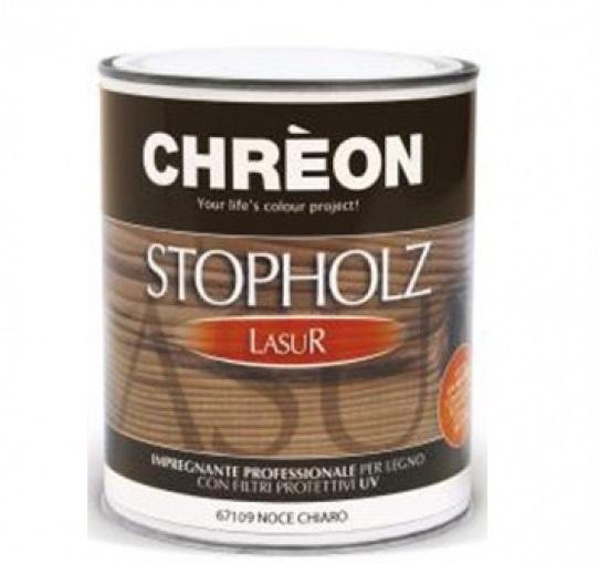 CHREON - STOPHOLZLASUR COLORATO x 0,75lt NOCE CHIARO/SCURO