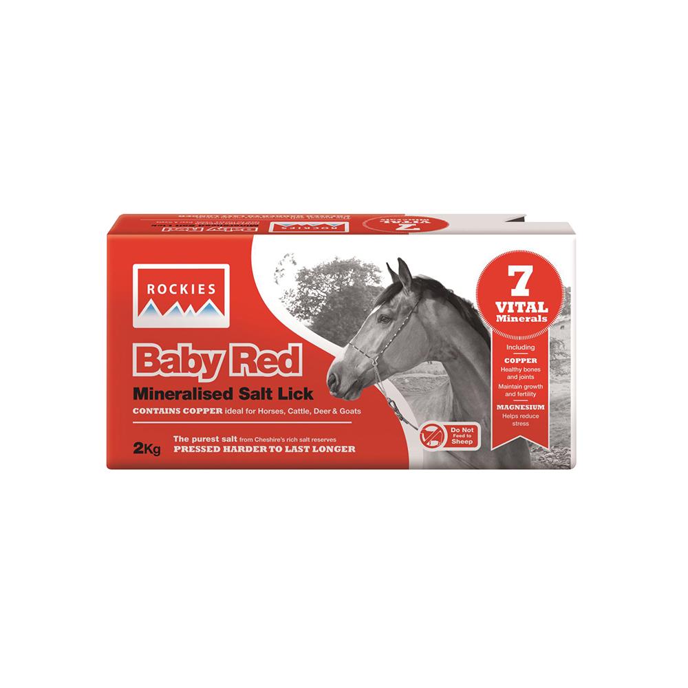 Baby Red 2 Kg - blocco minerale per cavalli
