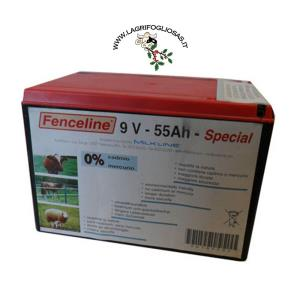FENCELINE - BATTERIA PILA SALINA 9V-55Ah