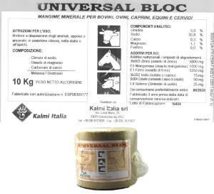 BLOCCO SALE - UNIVERSAL BLOC 10Kg cilindro