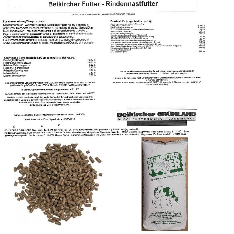 BEIKIRCHER - MANGIME ingrasso BOVINI manze RINDERMAST KG 30