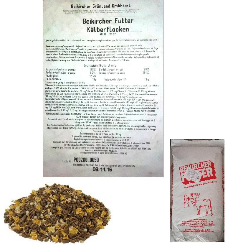 BEIKIRCHER - MANGIME KALBERFLOCKEN 30kg - SVEZZAMENTO VITELLI