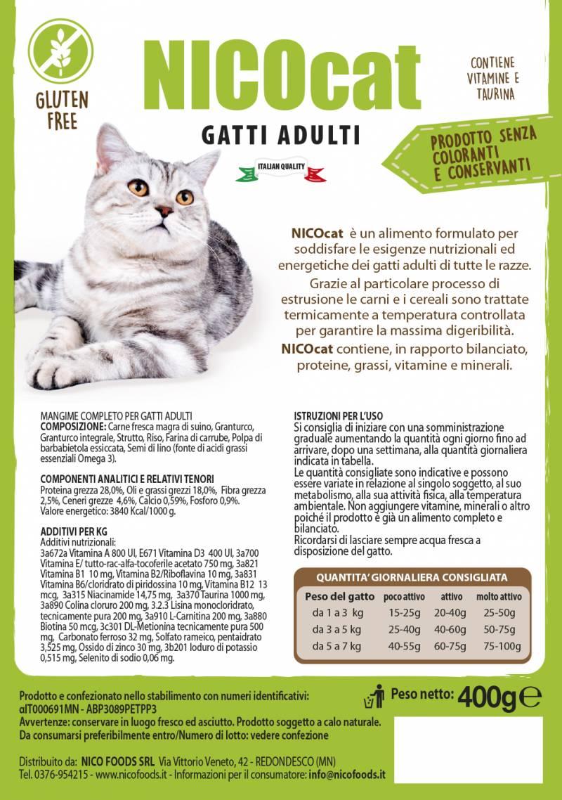 NICOFOOD - NICOCAT GATTI ADULTI KG15