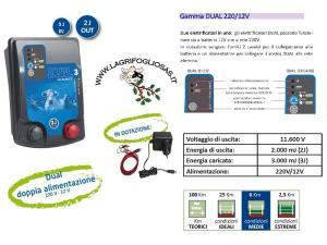 Dual D3-2 12/220V 3J - Elettrificatore