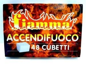 FIAMMA - 24xACCENDIFUOCO BIANCO 48 CUBETTI FIAMMA OFFERTA