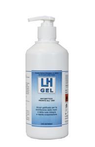 LH GEL Disinfettante Mani 1lt Antibatterico Antisettico a base di Alcool Etilico 62g./100g. Di Prodotto - ESAU