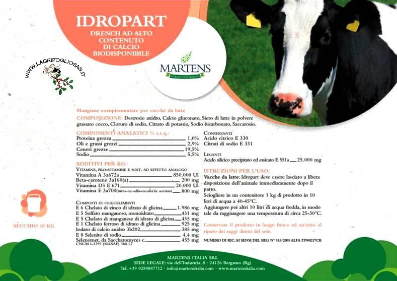 Idropart 10kg - Bevanda Energetica Post Parto