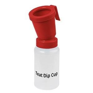 Bicchiere POST-Dipping STANDARD rosso, 300ml per bagno del capezzolo