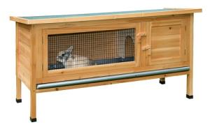 GABBIA ALFRED casetta in legno per conigli cm 116x45x62 RICOVERO