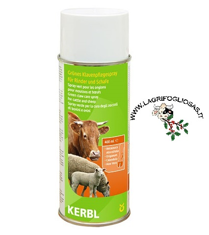KERBL - SPRAY verde  per ZOCCOLI 400ml Hoof care spray