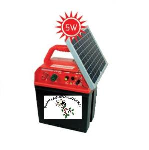 FENCELINE - D100 12V - 230V Elettrificatore completo di PANNELLO solare 5w