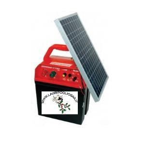 FENCELINE - D100 12V / 230V - Elettrificatore completo di PANNELLO solare 10w
