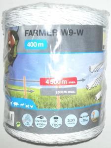 Filo Farmer 9x0,18 bianco 400mt