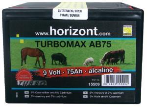 HORIZONT - BATTERIA PILA ALKALINA 9V-75Ah