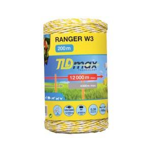 Filo RANGER W3 TLDmax Bianco/Giallo  400mt