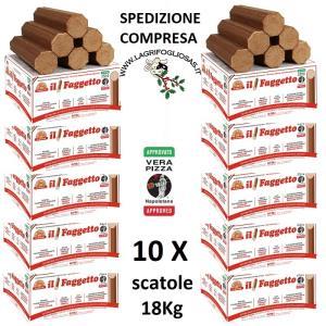 FAGGETTO OSOLEMIO KG 18 -Tronchetto per Pizza - bancale da 10 scatole - Consegna INCLUSA in tutta ITALIA - iso