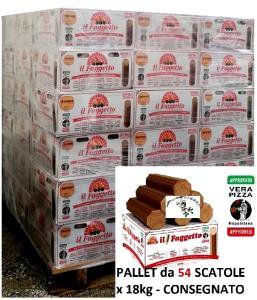 FAGGETTO OSOLEMIO KG 18 -Tronchetto x Pizza - Bancale da 54scatole - Consegna Gratuita NORD ITALIA