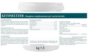 KETOSELTZER - Mangime complementare per vacche da latte - Bevanda Post Parto 1kg da diluire in 20lt di acqua