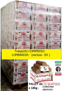 FAGGETTO OSOLEMIO KG 18 -Tronchetto per Pizza - Bancale da 72 scatole - Consegna Gratuita