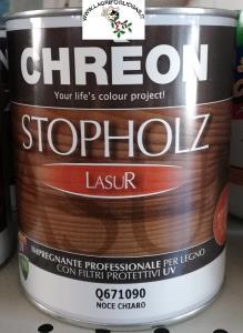 CHREON - STOPHOLZ LASUR IMPREGNANTE COLORATO x 0,75lt - NOCE CHIARO
