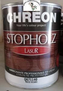 CHREON - STOPHOLZ LASUR IMPREGNANTE COLORATO x 0,75lt NOCE SCURO