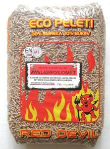 Pellet RED DEVIL ENplus A1 90%abete-10%faggio