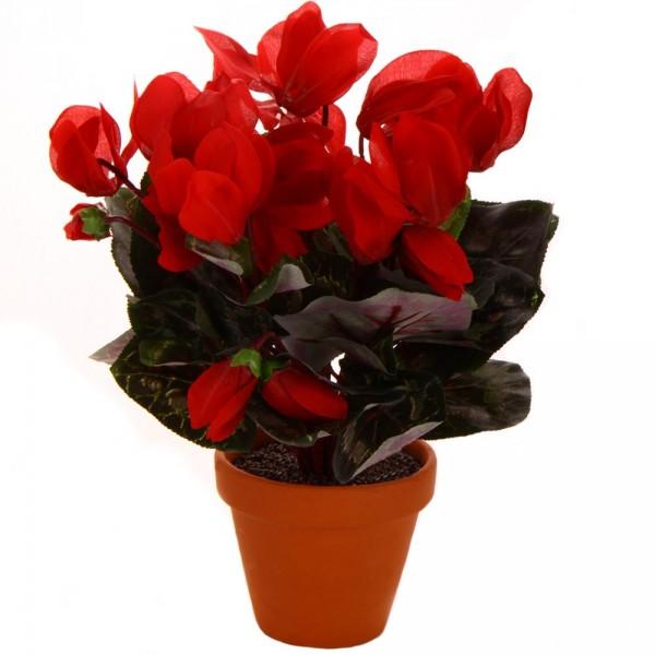 Ciclamino fiorito con vaso FIORE ARTIFICIALE